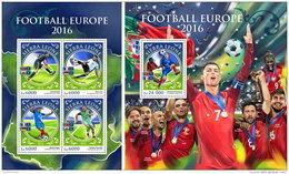 SIERRA LEONE 2016 ** Football Europe 2016 Fußball EM 2016 M/S+S/S - OFFICIAL ISSUE - A1648 - Europees Kampioenschap (UEFA)