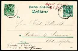 """Beleg Seepost-Vorläufer: """"Mogador, Marocco 19.2.91"""", Hs. Postaufgabevermerk Auf Ganzsachenkarte 5 Pfg. Mit Wertstufengl. - Briefmarken"""