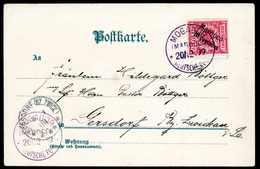 Beleg 10 C., Tadellose Bedarfskarte Mit Stempel MOGADOR MAROCCO 20/12 99 In Violett. Von Dieser äußerst Seltenen Farb-Ab - Briefmarken