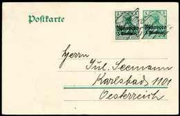 """Beleg Unruhen In Fez Im April 1911: """"Fes 6/5 1911"""", Hs. Entwertung Auf Postkarte 5 C. Mit Wertstufengl. Zusatzfrankatur  - Briefmarken"""
