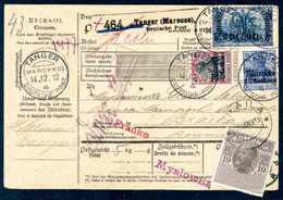 Beleg 25 C. Mit 50 C. Und 2,50 Pes. Auf Vollständiger Auslands-Paketkarte (mit Coupon) Nach Braila/Rumänien (2,50 Pes. O - Non Classificati