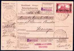Beleg 1,25 Pes., Tadellose Einzelfrankatur Auf Kpl. Rosafarbener Auslands-Postanweisung Im Inlandsverkehr Mit Klarem Ste - Briefmarken