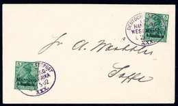 """Beleg HAMBURG-WESTAFRIKA """"XXX"""" 21/5 02, Zwei Klare Schwarzviolette Abstempelungen Auf Schönem Brief Mit Zweimal 5 C. Nac - Briefmarken"""