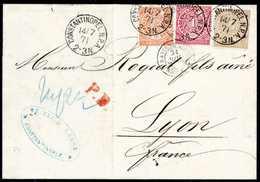 Beleg ½ Gr. Orange Mit 1 Gr. Karmin Und 5 Gr. Olivbraun, Hervorragend Farbfrische Kabinettstücke Als 6½-Gr.-Frankatur Au - Briefmarken