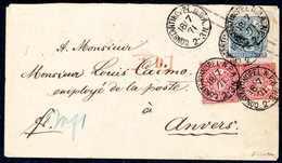Beleg NDP-Aufbrauch-Umschlag In Constantinopel: 1 Gr., Zwei Farbfrische Exemplare Als Zusatzfrankatur Auf Ganzsachenumsc - Briefmarken