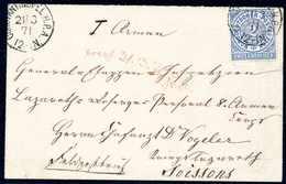 Beleg Feldpost Deutsch-Französischer Krieg: 2 Gr., Tadellose Einzelfrankatur In Leuchtend Frischer Farbe Auf Perfekt Erh - Briefmarken