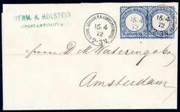 Beleg 2 Gr., Zwei Perfekt Gezähnte Exemplare Mit Leichter Patina Als 4-Gr.-Frankatur Auf Schönem Weißem Faltbrief Nach A - Briefmarken