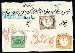 Briefst. ½ Gr. Mit 5 Gr. Ockerbraun In Währungs-Mischfrankatur Mit 3 Pfge. Bläulichgrün Auf Teil Von Brief-Vds. Nach Tun - Briefmarken