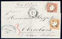 Beleg ½ Gr. Mit 2½ Gr. Dunkelrotbraun, Leuchtend Farbfrische Kabinettstücke Mit Klarem Stempel KDPA CONSTANTINOPEL 12/1  - Briefmarken