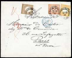 Beleg ½ Gr. Mit 5 Gr. Ockerbraun In Mischfrankatur Mit Ausgabe 1874, 2½ A. 2½ Gr. Rotbraun (teils Kl. Unebenheiten) Auf  - Non Classificati