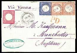 Beleg 1 Gr. Mit 2 Gr. Blau Und Waagr. Paar 2½ Gr. Rötlichbraun, Tadellose 8-Gr.-Frankatur Auf Faltbrief In Der 2.Gewicht - Briefmarken