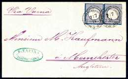 Beleg 2 Gr., Farbfrisches Waagr. Paar Mit Zwei Klaren Stempeln KDPA CONSTANTINOPEL 7/7 74 Auf Sauberem Faltbrief Nach En - Briefmarken