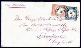 Beleg 2 Gr. Mit 2½ Gr. Rötlichbraun, Seltene 4½-Gr.-Frankatur Auf Kleinem Rosafarbenem Brief Mit Leitweg Via Odessa Nach - Briefmarken