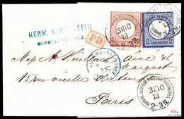 Beleg 2 Gr. Mit 2½ Gr. Rötlichbraun, Frische Kabinettstücke Auf Schönem Kl. Faltbrief Aus Der Holstein-Korrespondenz Nac - Briefmarken