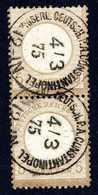 Gest. 5 Gr., Senkr. Kabinettpaar In Perfekter Zähnung, Zwei Klar Und Zentr. Aufges. Stempel KDPA CONSTANTINOPEL 4/3 75 ( - Briefmarken