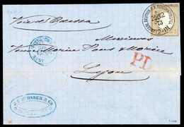 Beleg 5 Gr., Kabinettstück Mit Ideal Klarem Stempel KDPA CONSTANTINOPEL (mit Kreis) 25/12 73 Auf Gef. Blauem Brief Mit L - Briefmarken