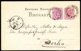 Beleg 5 Pfge., Zusatzfrankatur Auf Einer In Constantinopel Amtlich Nicht Ausgegebenen Ganzsache 5 Pfge. Violett Als Tade - Briefmarken