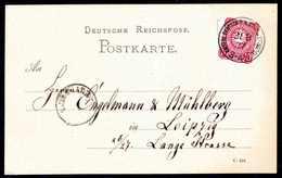 Beleg 10 Pfge., Tadellose Postkarte Mit Idealem Stempel KDPA CONSTANTINOPEL 31/8 77. (Michel: V33a) - Briefmarken