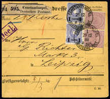 Beleg 2 Mk. Mittelrosalila, Tadelloses, Senkr. Paar In Mischfrankatur Mit Aufdruck-Ausgabe 1884, 1 Pia., Ebenfalls Im Se - Non Classificati