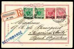 Beleg 10 P., Zwei Exemplare Mit 20 P. Auf Ganzsachenkarte 20 P. Als Bedarfsmäßige Einschreibe-Postkarte Nach Argentinien - Non Classificati