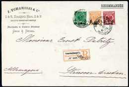 Beleg Erstauflagen-Dreifarben-Frankatur: 1¼ Pia. Gelborange Mit 2½ Pia. Bräunlichrot Sowie 10 P. Grün, Tadellose Dreifar - Non Classificati