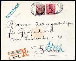 Beleg 2½ Pia., Mischfrankatur Mit Aufdruck-Ausgabe Germania, 20 P. Auf Bedarfs-Einschreibebrief In Der 3.Gewichtsstufe N - Non Classificati