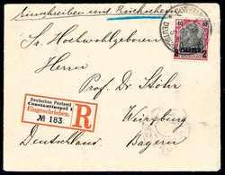 Beleg Einschreibe-Rückscheinbrief: 2 Pia., Tadellose Einzelfrankatur Mit Stempel CONSTANTINOPEL 1. 16/11 00 Auf Gef. Ein - Non Classificati