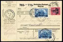 Beleg 4 Pia., Mischfrankatur Mit Ausgabe 1906, Zweimal 10 Pia. Auf Seltener Inlands-Paketkarte Nach Beirut, Klare Stempe - Non Classificati