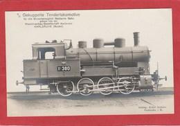 CPA: Train - Locomotive à Vapeur - Editeur Ernst Schuler - Karlsruhe - Treni