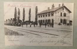 AK  SLOVENIA   LJUTOMER   RAILWAY STATION  BAHNHOF   1900. - Slovenia