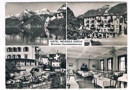 CH4739    BRUNNEN : Hotel Weisses Kreuz ( Multiview) - SZ Schwyz