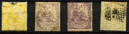 2662- España Nº 143/4, 148/9 - 1872-73 Reino: Amadeo I
