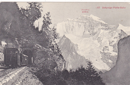 Cpa,suisse,berne,le Chemin De Fer De La Schynige-platte-bahn,depu Is 1893,train En Circulation - BE Berne