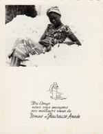 Afrique,congo,bonne Et Heureuse Année,femme Belle Assis Dur Du Coton Made In Congo - French Congo - Other