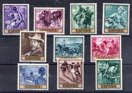 ESPAÑA 1964.EDIFIL Nº 1566/1575.PINTORES: SOROLLA .NUEVO SIN  CHARNELA..SES688 - 1931-Today: 2nd Rep - ... Juan Carlos I