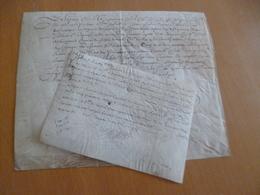 Tilladet Marquis De Cassagnet 2 Pièces Signées Sur Velin 24/10/167 13/08/1637 2 Reçus Benegaud - Lettres De Change