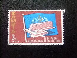 ZAMBIA Zambie 1966 Organización De La Salud Yvert N 26 FU - Zambia (1965-...)