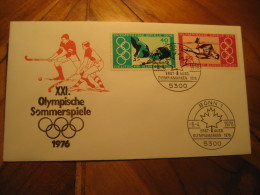 MONTREAL 1976 Olympic Games Olympics Pole Vault Swimming Grass Hockey BONN 1976 FDC Cancel Cover GERMANY Canada - Zomer 1976: Montreal