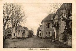 CPA Thèze Grande Rue - Animée - France