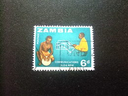 ZAMBIA Zambie 1964 Comunicaciones Yvert N 9 FU - Zambia (1965-...)