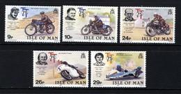 GB ISLE OF MAN IOM - 1982 TT ANNIVERSARY SET (5V) FINE MNH ** SG 218-222 - Motorbikes
