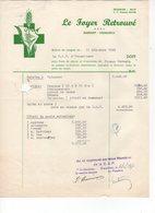 Facture. Le Foyer Retrouvé A.S.B.L. Ransart - Charleroi Le 31/12/1949 - Belgique