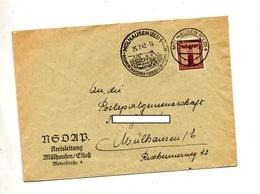 Lettre Cachet Mulhouse  Sur Aigle 2 Date 2 Types - Allemagne
