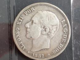 ESPAGNE : 2 PESETAS ARGENT 1882 - ALFONSO XII - [ 1] …-1931 : Royaume