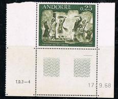 ANDORRE 1968 FRESQUES Yvert 191 - NEUF - Frans-Andorra