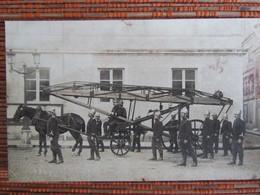 """POMPIERS D'AGEN 1920 """" Départ Attelé De La Grande Echelle """" Véritable Photo. - Agen"""