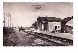 41 St Saint Jean Froidmontel La Gare Passage à Niveau Vieille Voiture Auto Rare CPSM PF Cachet Moree 1955 - Frankreich