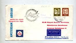 Lettre Premier Vol KLM Amsterdam Abidjan - Airplanes