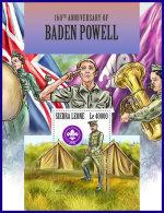 SIERRA LEONE 2017 MNH** Scouts Pfadfinder Robert Baden Powell S/S - OFFICIAL ISSUE - DH1801 - Pfadfinder-Bewegung