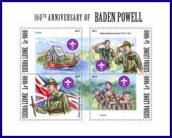 SIERRA LEONE 2017 MNH** Scouts Pfadfinder Robert Baden Powell M/S - OFFICIAL ISSUE - DH1801 - Pfadfinder-Bewegung